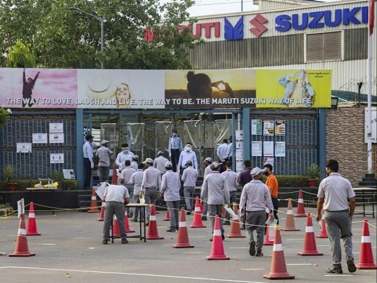 Maruti Suzuki cuts production by 98% in May amid coronavirus pandemic.
