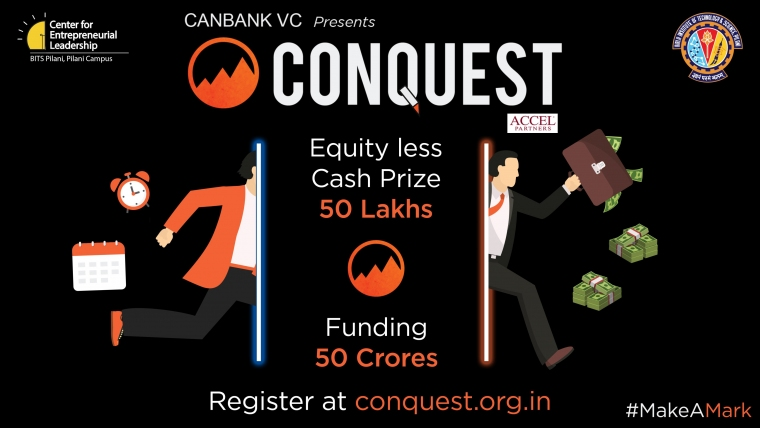 CANBANK VC presents Conquest BITS Pilani's startup Accelerator