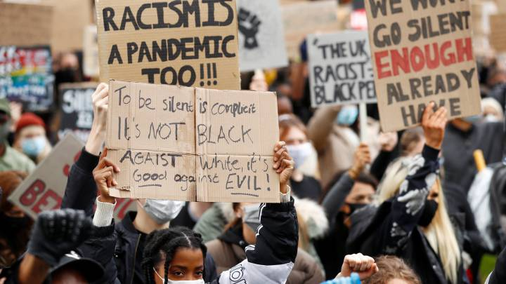 George Floyd death: Thousands turn out for UK anti-racism protests.