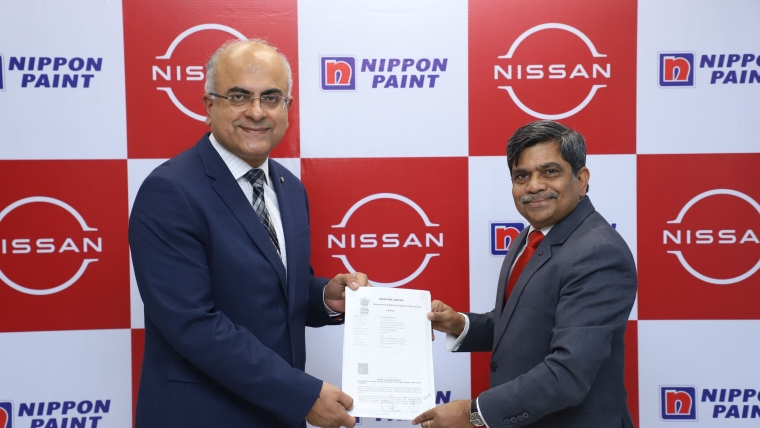 Nippon Paint & Nissan Motor India collaborate Exclusively for Paint Supplies under Unique Drop Shipment Process