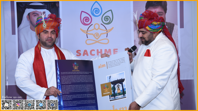 Dr. Bu Abdullah supports Shri Anurag Maheshwari's vision for inviting expatriates to a wonderful journey through spirituality, blended with innovation.