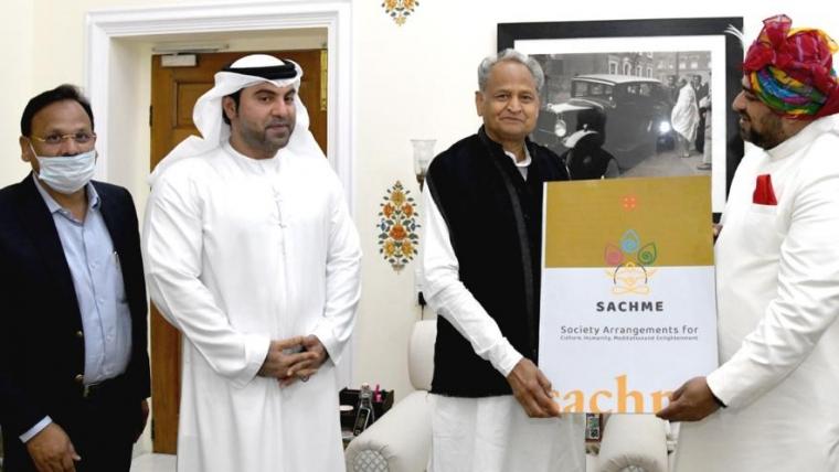 Shri Ashok Gehlot, Chief Minister of Rajasthan blesses the socio-spiritual initiative taken by Shri Anurag Maheshwari towards the betterment of Indian expatriates.