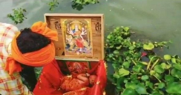 THE BROADCAST MEDIA- NEWBORN baby girl found floating in a wooden box in Ganga
