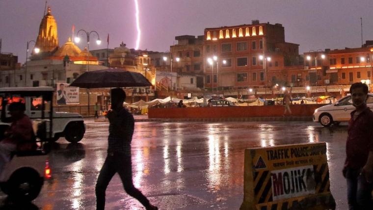 Over lightning killed 60 people in Rajasthan & Uttar Pradesh