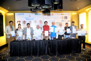 Organisers of IKON Awards Dr.Dinesh Murugesan, National President & CEO IKON, Mr.Krish Chintaluri, Founder & COO of IKON addressed the media in curtain raiser press conference on 7th August 2021 at The Park Hotel, Hyderabad.